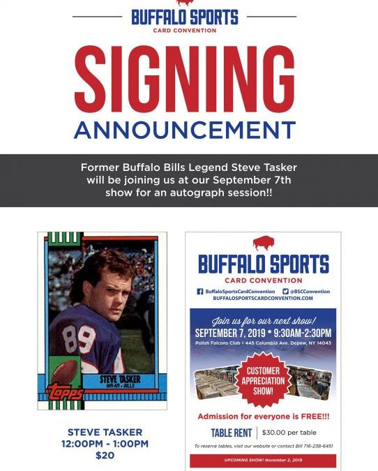 Steve Tasker To Sign Autographs At Sports Card And Memorabilia Show